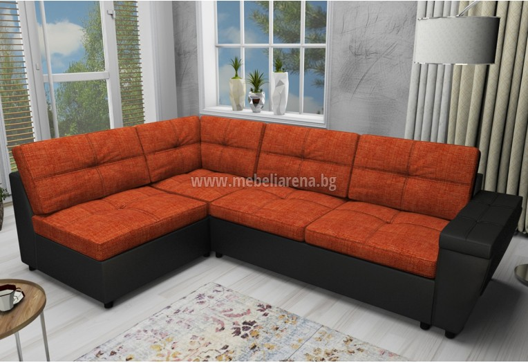 Ъглов диван с лежанка
